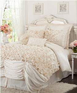 Lucia Four Piece Ivory Comforter Set