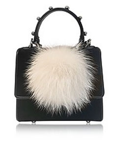 Mini Alex Bunny Spheres Patent Leather Satchel Bag