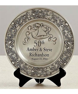 Anniversary Pewter Plate.