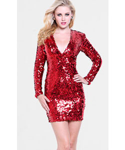 Atria Long Sleeved Sequin Dress