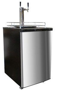Double Kegorator Twin Tap Beer Keg Fridge
