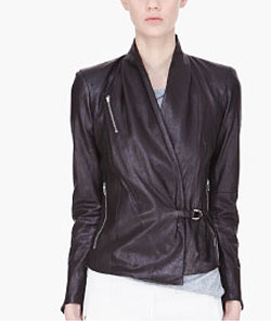 Black Thin Leather Jacket