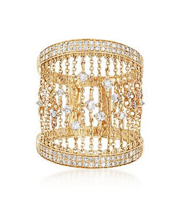 14kt Yellow Gold Chain Ring with .67 ct. t.w. Diamonds