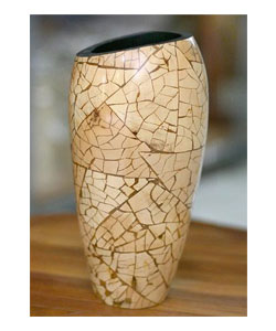 Hand Crafted Coconut Shell Vase