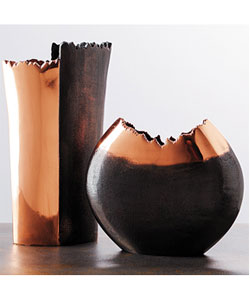 Copper Contrast Vases