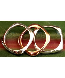 Copper Sterling Silver Stacking Rings