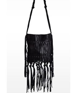 Linea Pelle Daisy Crossbody Handbag - Hand sliced laced and knotted for the free spirit look
