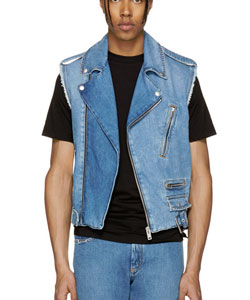 Indigo Denim Distressed Vest