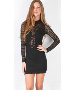 Diamond Down Lace Dress