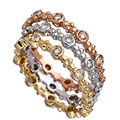Mystic Light Diamond and Round Gold Bands Trio