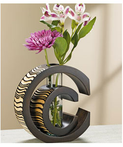 "Artisan-Carved Double ""C"" Vase"