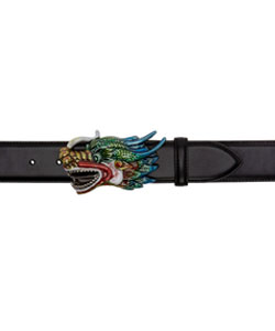 Black Dragon Head Belt