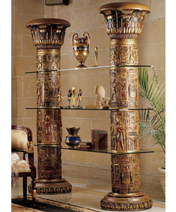 Egyptian column shelf