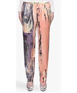 Orange And Pink Silk Gessler Sunset Trousers
