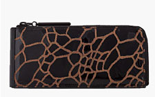 Giraffe Print Patent Leather Wallet