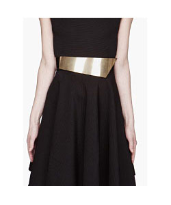 Black And Gold Asymmetric Belt
