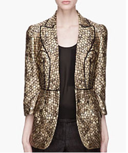 Metallic Gold And Black Honeycomb Runway Blazer
