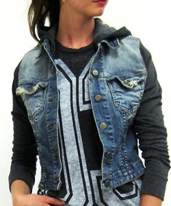 Jean Jacket with Sweater Sleeves