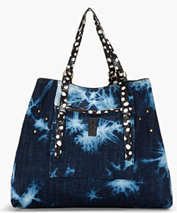 Mottled Blue Pat Bag