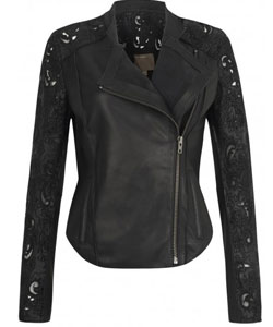 Muubaa Tureis Leather Laser-Cut Biker Jacket