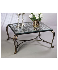 Bronze Acanthus Leaf Coffee Table
