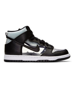 Black NikeLab Edition Dunk Hi Retro Invisible High-Top Sneakers