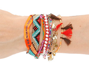 Pampa Bracelet in Red Multi - designed by Hipanema