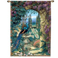 The Peacock's Garden Wall Tapestry: Large