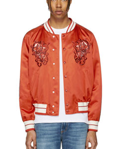 Red Skulls Souvenir Bomber Jacket