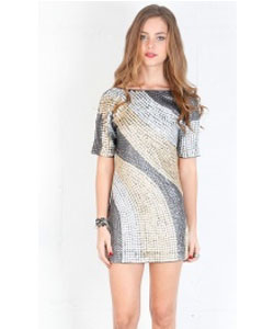 Yesterday's Gone Sequin Dress