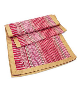 Silk and cotton table runner
