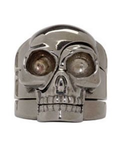 Silver Puzzle Skull Ring