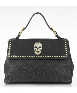 Skull Leather Satchel