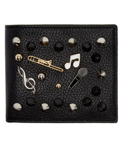 Black Studs And Pins Wallet