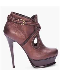 Yves Saint Laurent Espresso Tribute Ankle Boots
