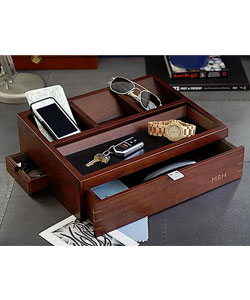 Wood Charging Station And Valet